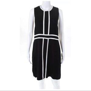 Pink Tartan Sleeveless Pencil Dress Black White 10